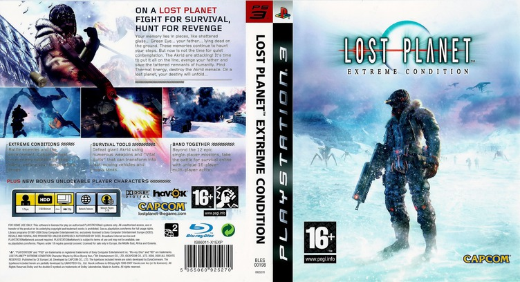 Lost Planet: Extreme Condition PS3 coverfullM (BLES00198)