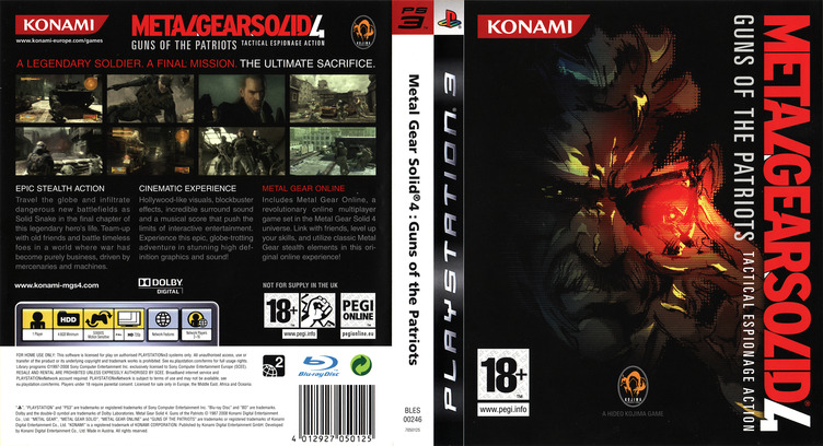 Metal Gear Solid 4: Guns of the Patriots PS3 coverfullM (BLES00246)