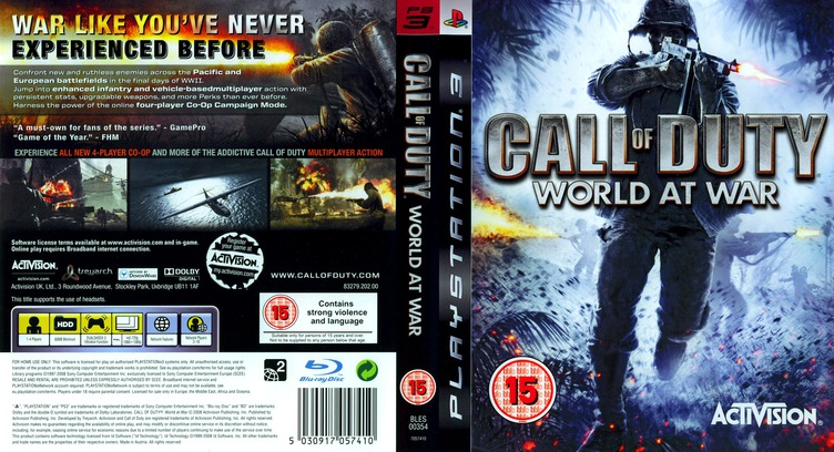 Call of Duty: World at War PS3 coverfullM (BLES00354)