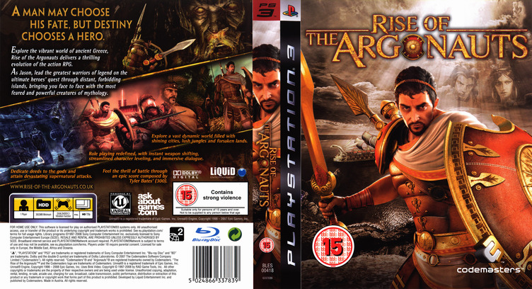 Rise of the Argonauts PS3 coverfullM (BLES00418)