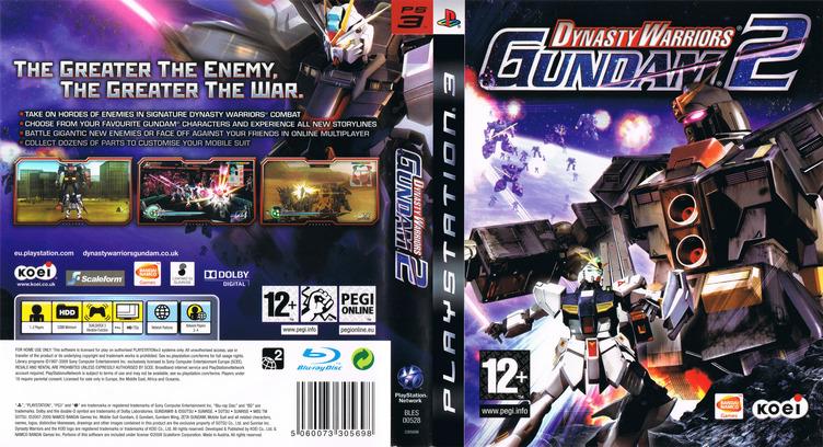 Dynasty Warriors: Gundam 2 PS3 coverfullM (BLES00528)
