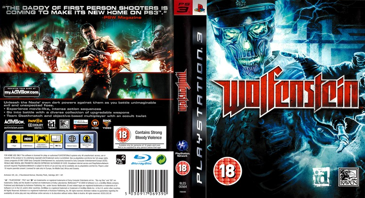 Wolfenstein PS3 coverfullM (BLES00564)