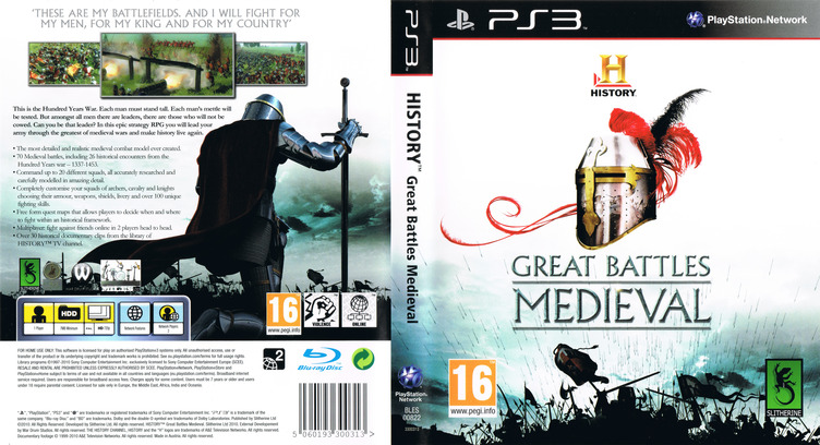 History: Great Battles Medieval PS3 coverfullM (BLES00822)