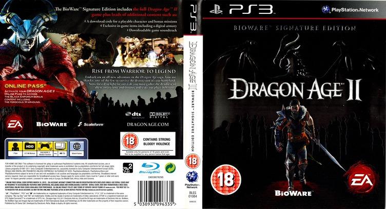 Dragon Age II (Bioware Signature Edition) PS3 coverfullM (BLES01084)