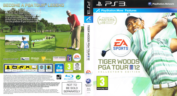 Tiger Woods PGA Tour 12: The Masters PS3 coverfullM (BLES01270)