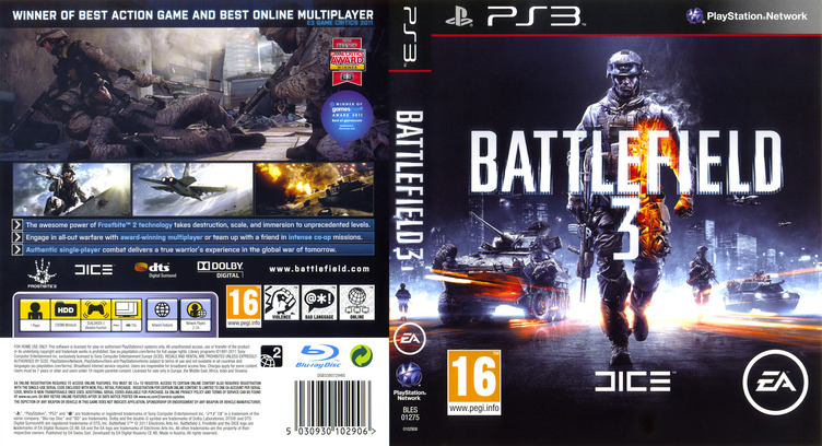 Battlefield 3 PS3 coverfullM (BLES01275)
