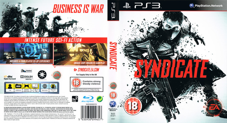 Syndicate PS3 coverfullM (BLES01371)