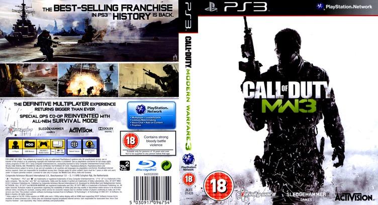 Call of Duty: Modern Warfare 3 PS3 coverfullM (BLES01428)
