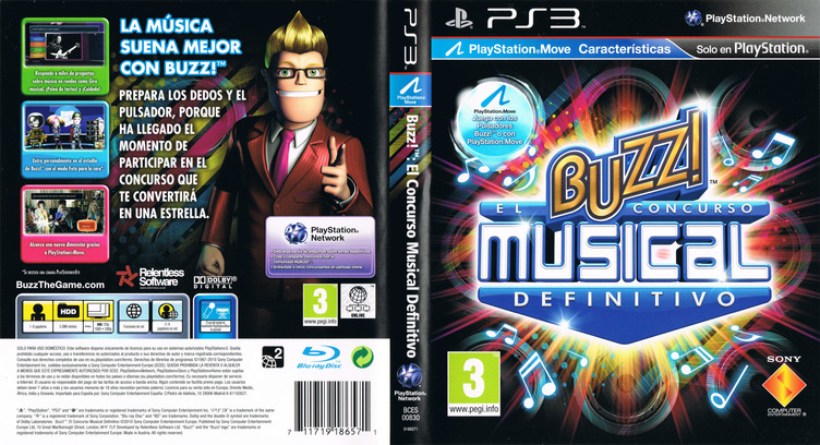 Buzz! El Concurso Musical Definitivo PS3 coverfullM (BCES00830)