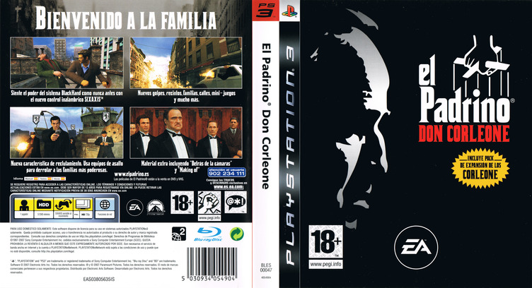 El Padrino:Don Corleone PS3 coverfullM (BLES00047)