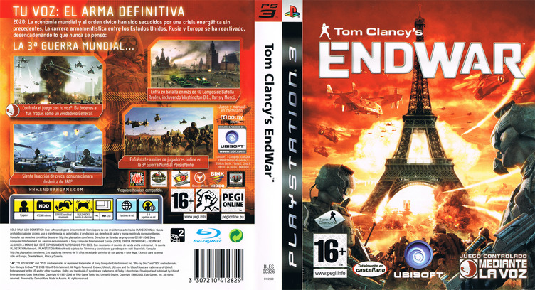 Tom Clancy's EndWar PS3 coverfullM (BLES00326)