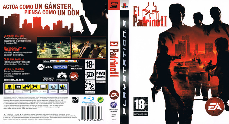 El Padrino II PS3 coverfullM (BLES00477)