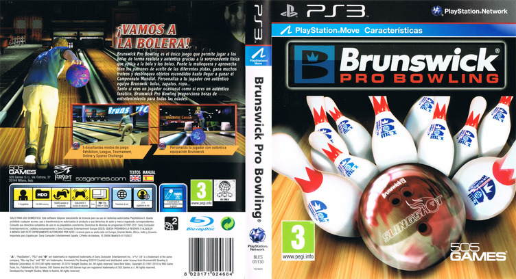 Brunswick Pro Bowling PS3 coverfullM (BLES01130)