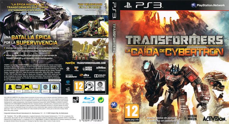 Transformers: La Caída de Cybertron PS3 coverfullM (BLES01153)