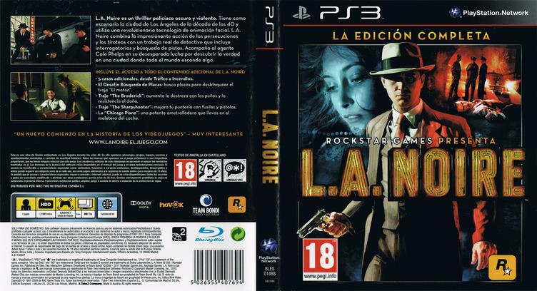 L.A. Noire: La Edición Completa PS3 coverfullM (BLES01488)
