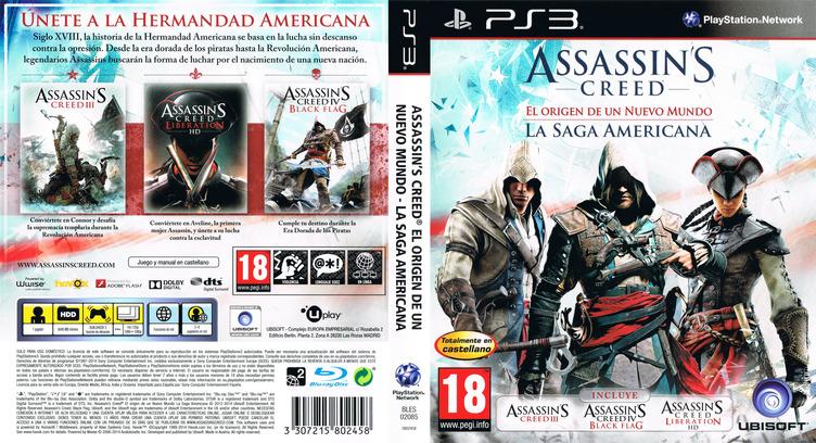 Assassin's Creed: El origen de un nuevo mundo - La Saga Americana PS3 coverfullM (BLES02085)