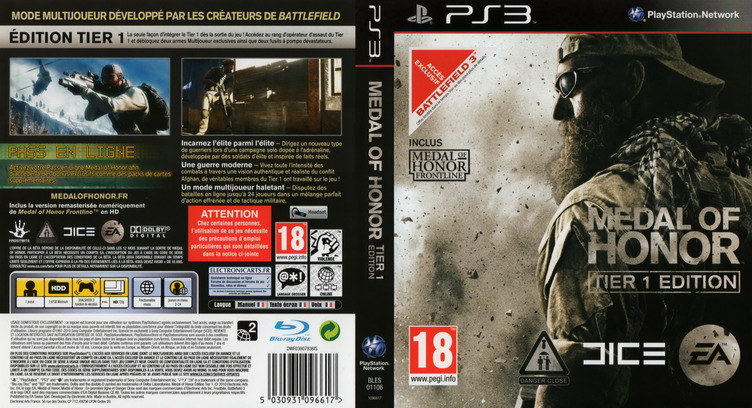 Medal of Honor: Tier 1 Edition PS3 coverfullM (BLES01106)