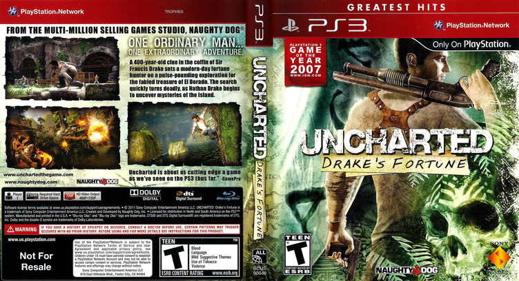Uncharted: Drake's Fortune (Greatest Hits) PS3 coverfullM (BCUS90640)