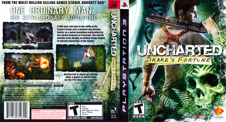 Uncharted: Drake's Fortune PS3 coverfullM (BCUS98103)