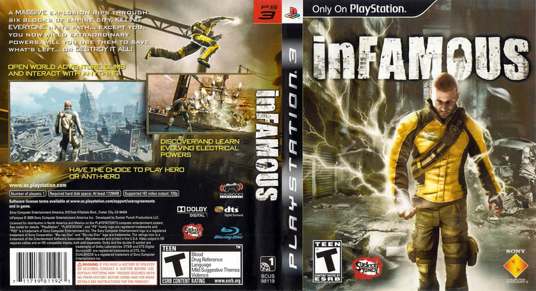 inFamous (Greatest Hits) PS3 coverfullM (BCUS98119)