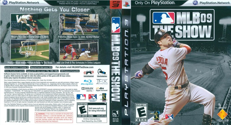 MLB 09: The Show PS3 coverfullM (BCUS98180)