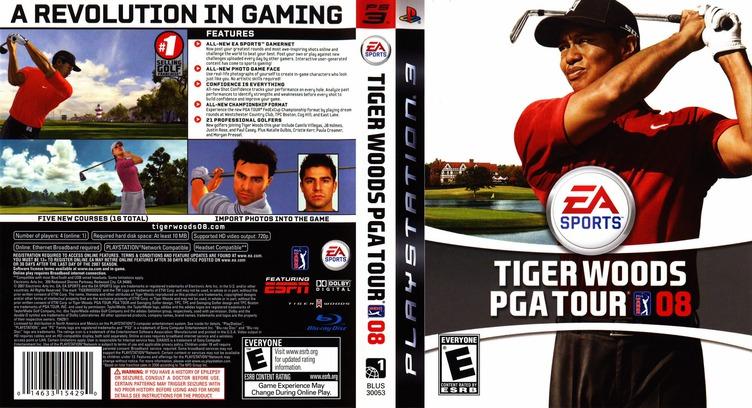 Tiger Woods PGA Tour 08 PS3 coverfullM (BLUS30053)