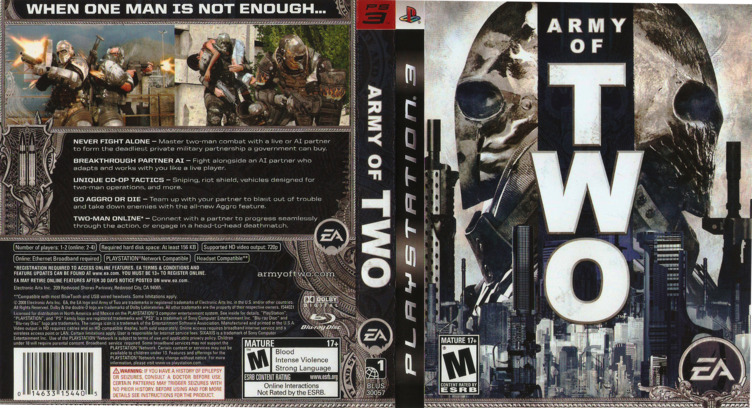 Army of Two PS3 coverfullM (BLUS30057)