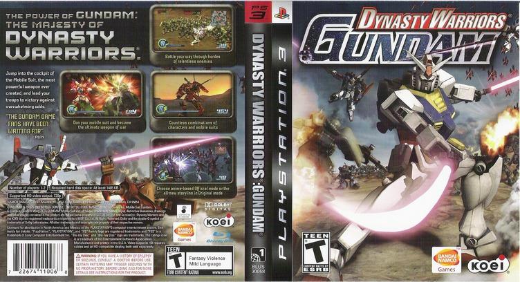 Dynasty Warriors: Gundam PS3 coverfullM (BLUS30058)