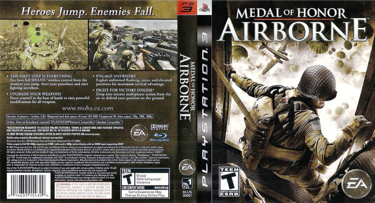 Medal of Honor: Airborne PS3 coverfullM (BLUS30067)