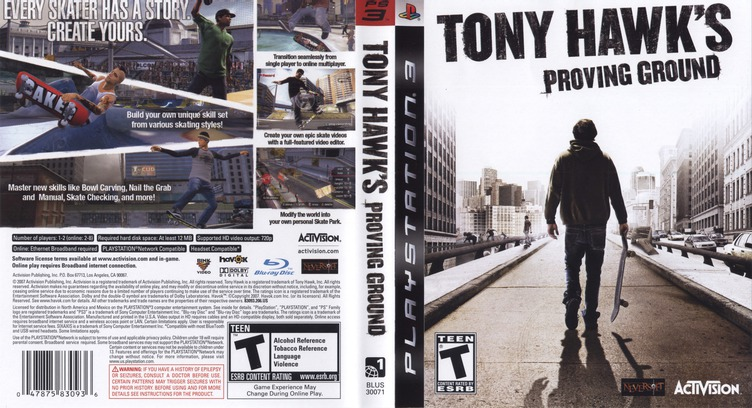 Tony Hawk's Proving Ground PS3 coverfullM (BLUS30071)