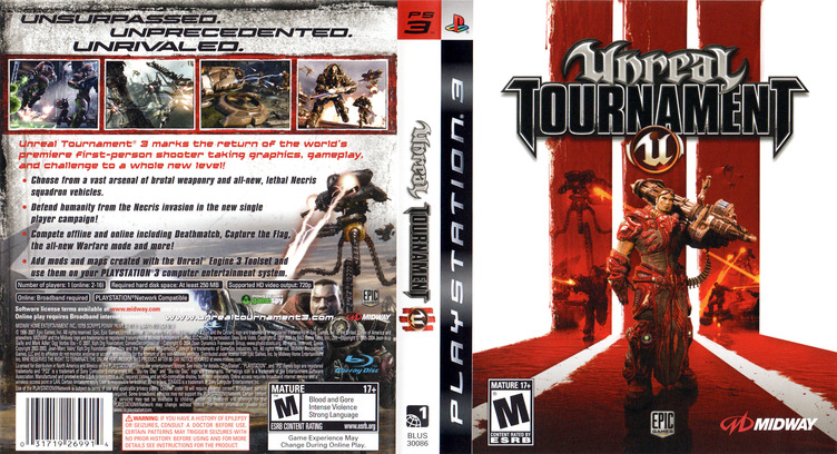 Unreal Tournament III PS3 coverfullM (BLUS30086)