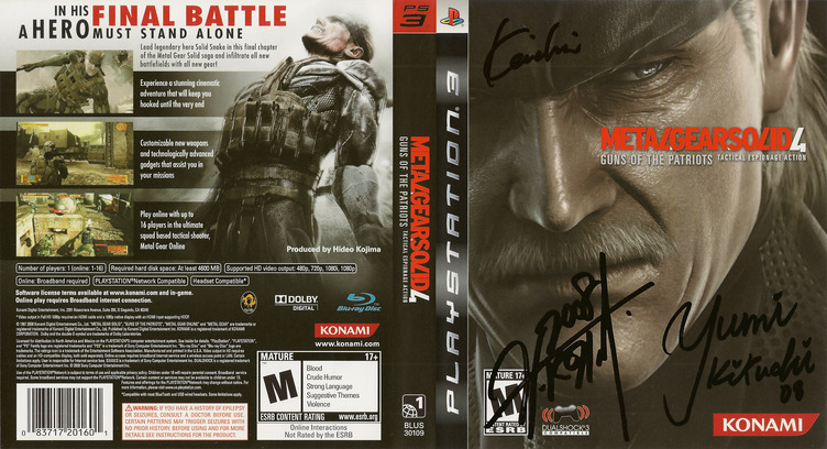 Metal Gear Solid 4: Guns of the Patriots PS3 coverfullM (BLUS30109)