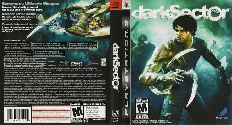 Dark Sector PS3 coverfullM (BLUS30116)