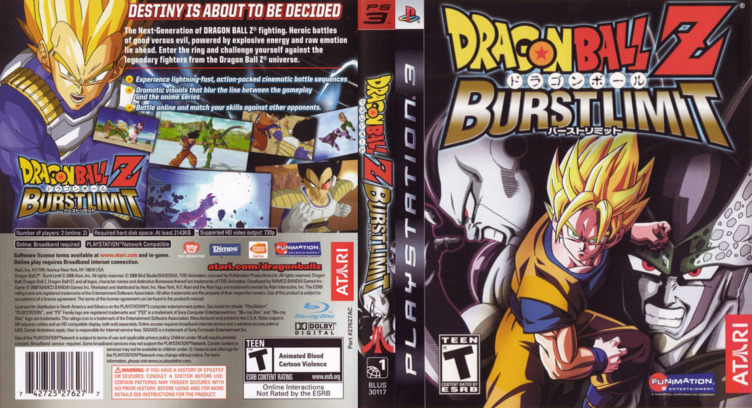 Dragon Ball Z: Burst Limit PS3 coverfullM (BLUS30117)