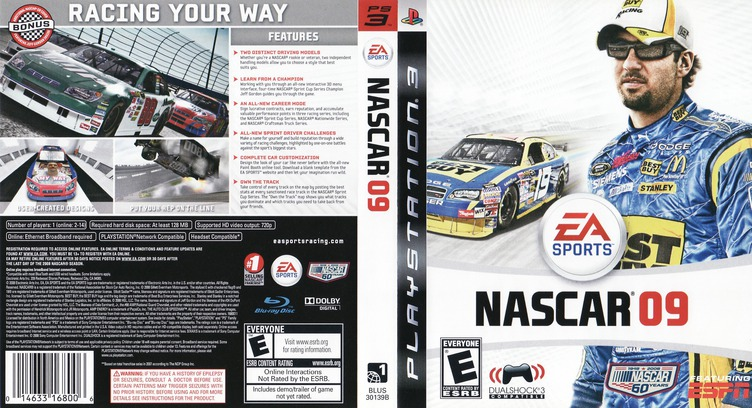 NASCAR '09 PS3 coverfullM (BLUS30139)