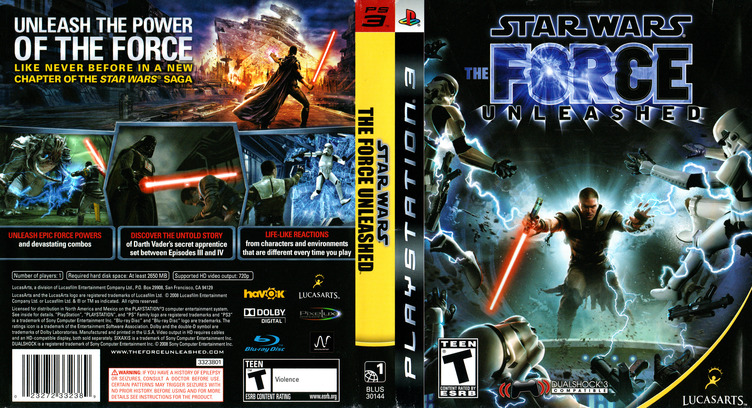 Star Wars: The Force Unleashed PS3 coverfullM (BLUS30144)