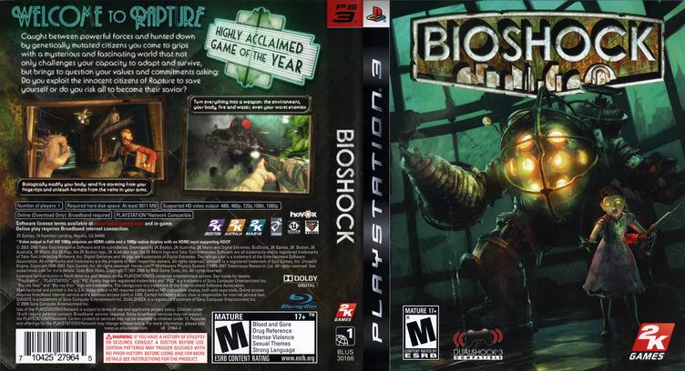 BioShock PS3 coverfullM (BLUS30166)