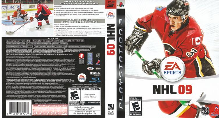 NHL '09 PS3 coverfullM (BLUS30168)