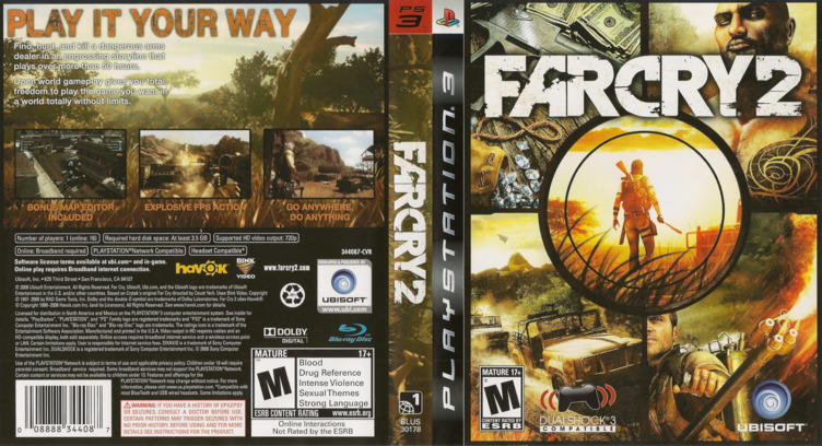 Far Cry 2 PS3 coverfullM (BLUS30178)