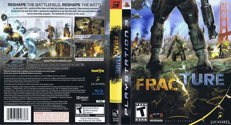 Fracture PS3 coverfullM (BLUS30184)