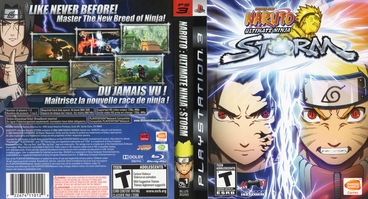 Naruto: Ultimate Ninja Storm PS3 coverfullM (BLUS30200)