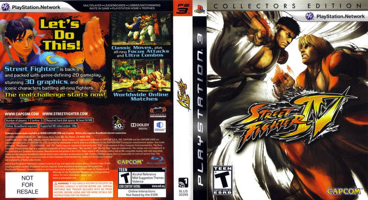 Street Fighter IV (Collector's Edition) PS3 coverfullM (BLUS30260)