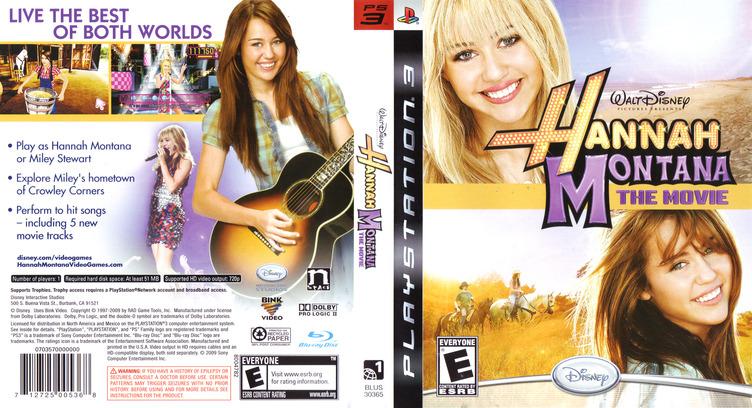 Hannah Montana: The Movie PS3 coverfullM (BLUS30365)