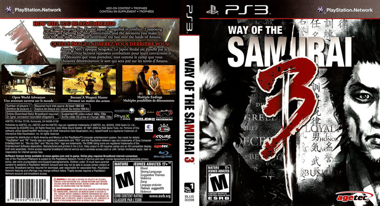 Way of the Samurai 3 PS3 coverfullM (BLUS30398)
