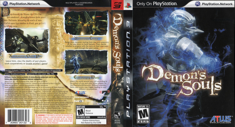 Demon's Souls PS3 coverfullM (BLUS30443)