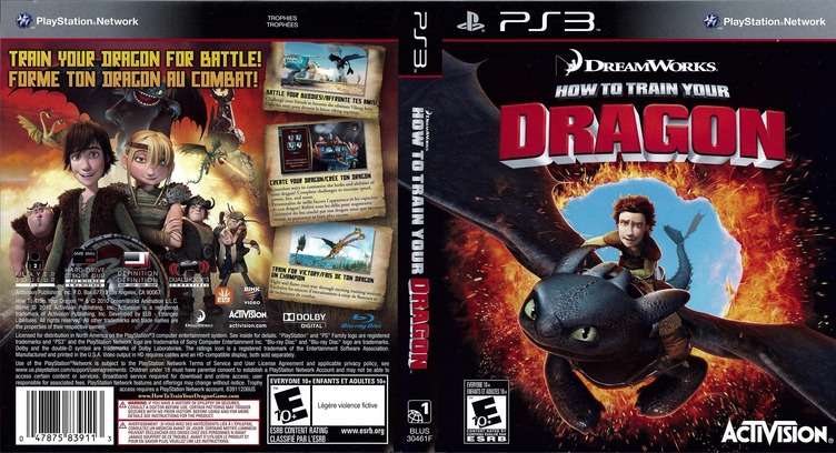 How to Train Your Dragon PS3 coverfullM (BLUS30461)