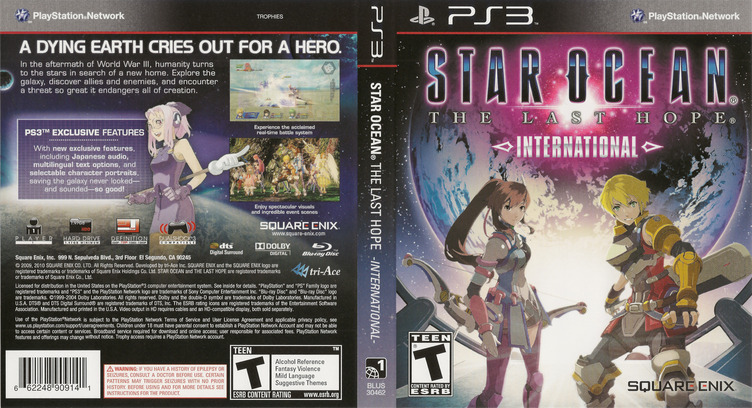 Star Ocean: The Last Hope - International PS3 coverfullM (BLUS30462)