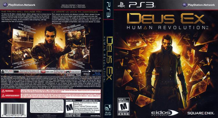 Deus Ex: Human Revolution PS3 coverfullM (BLUS30476)