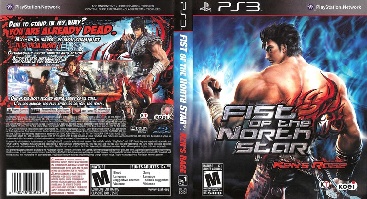 Fist of the North Star: Ken's Rage PS3 coverfullM (BLUS30504)