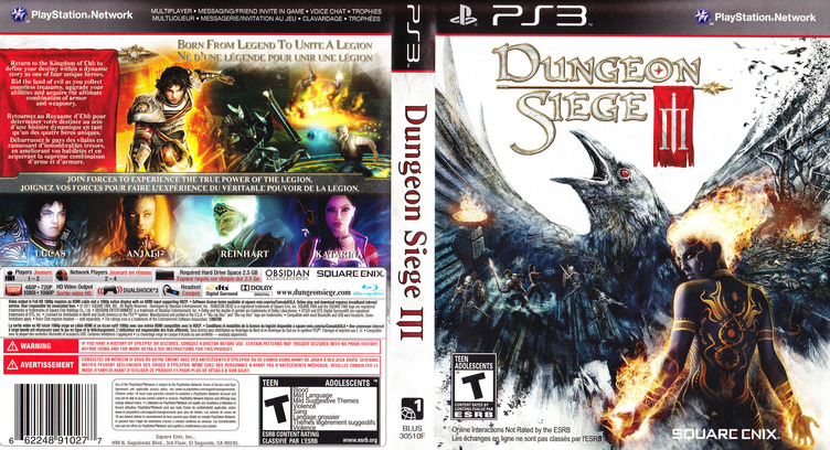 Dungeon Siege III PS3 coverfullM (BLUS30510)